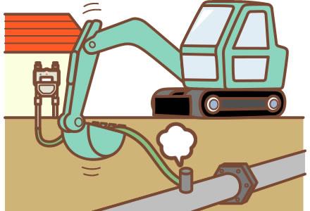 道路・敷地内で工事をされる皆さまへ   ガス工事について   長野都市ガス